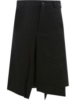 Asymmetric Knee Length Shorts by Comme Des Garçons Homme Plus