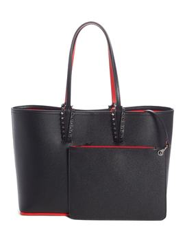 Small Cabata Calfskin Leather Tote by Christian Louboutin