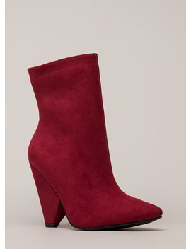 Fashionista Chunky Cone Heel Booties by Go Jane