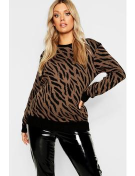 Plus Animal Knitted Jumper by Boohoo