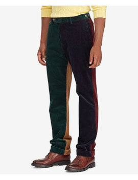 Men's Colorblocked Corduroy Classic Fit Stretch Pants by Polo Ralph Lauren