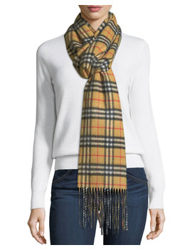 Cashmere Reversible Vintage Check Pattern Scarf by Burberry