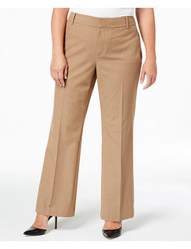 Plus Size High Waist Pants, Created For Macy's by Charter Club