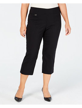 Plus Size Pull On Capri Pants, Created For Macy's by Alfani