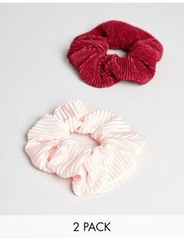 My Accessories Plisse Scrunchie 2 Pack by My Accessories
