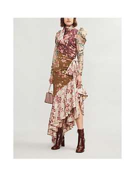 Tempest Floral Print Silk Twill Dress by Zimmermann