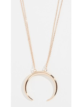 Crescent Pendant Necklace by Stella + Ruby