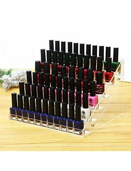 Cq Acrylic 48 Bottles Of 6 Layers Nail Polish Rack Clear Nail Polish Display,Just Stand On The Table Or Desk,11.5x9.5x7.5 Inch,Pack Of 1 by Cq Acrylic