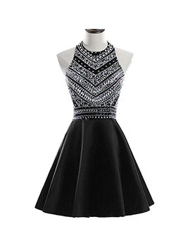 Heimo Women's Sparkly Beaded Homecoming Dresses Sequined Prom Gowns Short H212 by Heimo