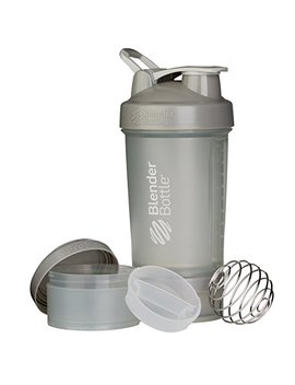 Blender Bottle Pro Stak System With 22 Ounce Bottle And Twist N' Lock Storage, Pebble Grey by Blender Bottle