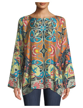 Lentine Silk Printed Georgette Tunic, Plus Size by Johnny Was