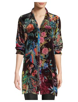Dream Floral Print Velvet Easy Tunic, Plus Size by Johnny Was