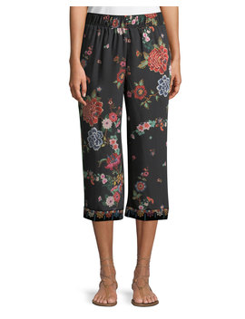 Velvet Mix Culotte Pants, Plus Size by Johnny Was