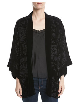 Ivy Reversible Velvet Jacket, Plus Size by Johnny Was