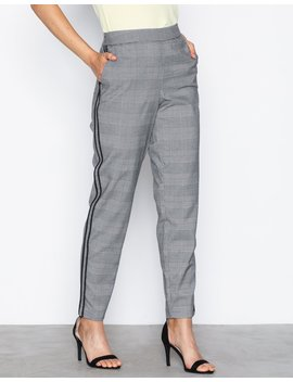Onl Mimi Check Panel Pants Tlr by Only