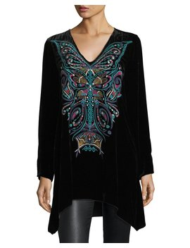 Aurelia Velvet Embroidered Tunic, Plus Size by Johnny Was