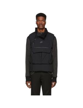 Black Down Tech Pack Vest by Nike