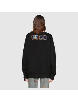 Oversize Sweatshirt With Bosco And Orso by Gucci