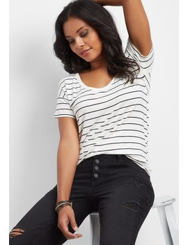 Denim Flex™ Black Button Down Fly Super Skinny Jean by Maurices