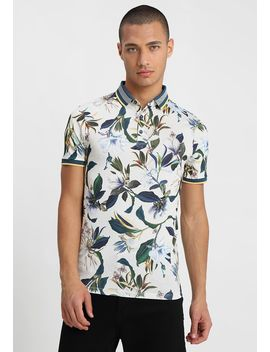 Floral Printed Muscle Fit   Poloshirt by River Island