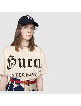 "Oversize T Shirt With ""Guccy Internaive Xxv"" by Gucci"