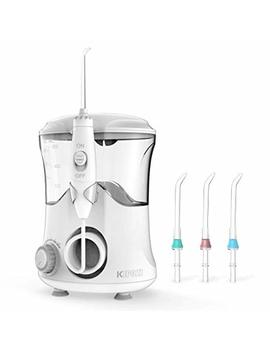 Water Flosser 600ml Capacity Dental Flosser 10 Adjustable Pressure Oral Irrigator With 3 Min Timer,70db Quiet Design 4 Jet Tips Gum Flosser For Adults & Kids by Kipozi