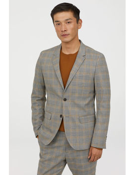 Casaco De Quadrados Skinny Fit by H&M
