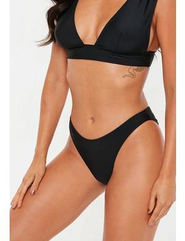 Black Super High Leg Bikini Bottoms   Mix & Match by Missguided