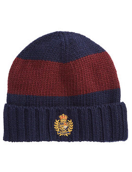 Men's Striped Cuffed Hat by Polo Ralph Lauren