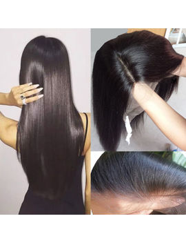Top 8 A Virgin Indian Human Hair Wig Full Front Lace For Women Straight Black Qmy by Ebay Seller