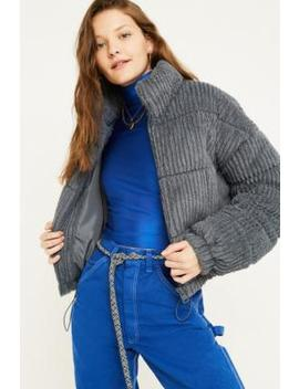 Urban Outfitters – Flauschige Steppjacke Aus Cord In Anthrazit by Urban Outfitters Shoppen