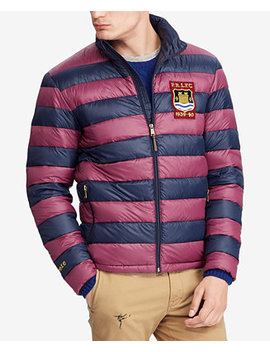 Men's Big & Tall Packable Varsity Puffer Jacket by Polo Ralph Lauren