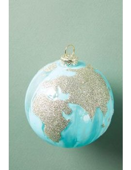 Glittering Globe Ornament by Anthropologie