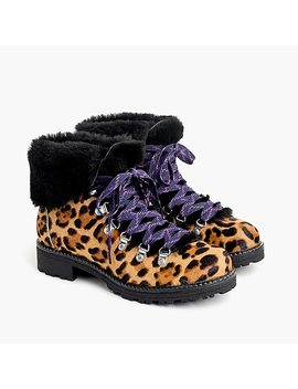 Nordic Boots In Leopard Calf Hair by J.Crew