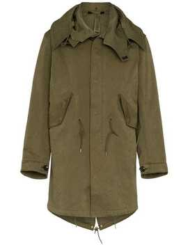 Mid Length Cotton Parka Jacket by Ten C