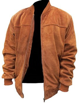 Classyak Men's Fashion Stylish Suede Real Leather Bomber Jacket by Classyak