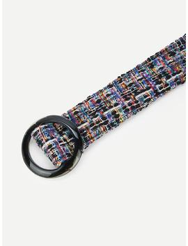 Round Buckle Belt by Sheinside
