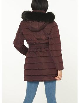 Petite Berry And Black Parka by Dorothy Perkins