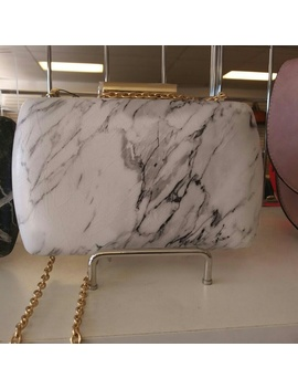 Brand New Black And White Marble Clutch by Poshmark
