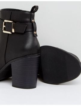 London Rebel Heeled Ankle Buckle Strap Boot by Shoes