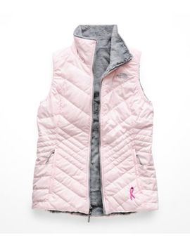 Women's Pink Ribbon Mossbud Insulated Reversible Vest by The North Face