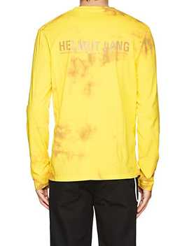Logo Tie Dyed Cotton T Shirt by Helmut Lang