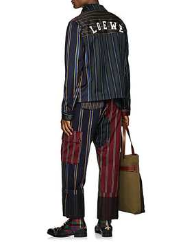 Patchwork Striped Wool Cotton Jacket by Loewe
