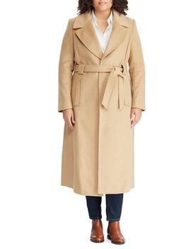 Wool Blend Belted Wrap Coat by Lauren Ralph Lauren