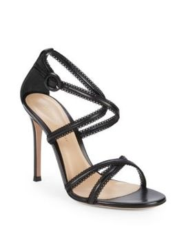 Crisscross Leather Sandals by Gianvito Rossi