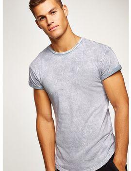 Blue Acid Wash Muscle T Shirt by Topman