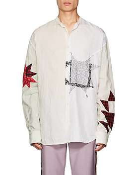 Patchwork Mixed Media Shirt by Calvin Klein 205 W39 Nyc