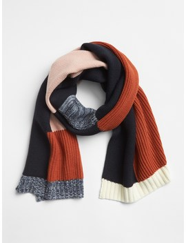 Patchwork Mix Stitch Scarf by Gap