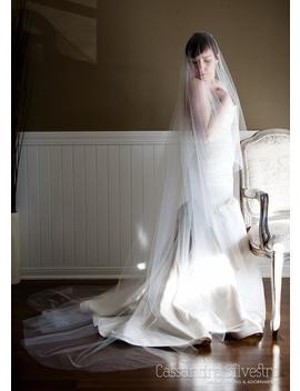 Sheer Drop Wedding Veil (Cathedral Veil, Illusion Bridal Veil, Blusher, Raw Edge Veil, Drape Veil, Long Veil, Waltz, Chapel) by Etsy