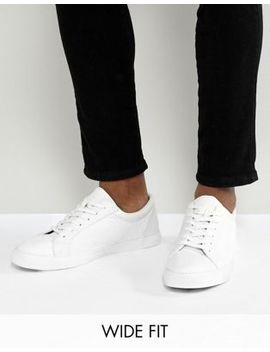 Asos Design Wide Fit Trainers In White by Asos Design